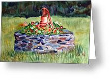 Retired Water Pump Greeting Card