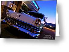 Retro Ford At Bob's Greeting Card