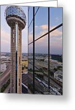 Reunion Tower Greeting Card by Jeremy Woodhouse