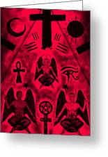 Revelation 666 Greeting Card by Kenal Louis