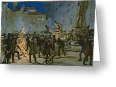 Revolution In Florence Greeting Card