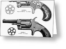 Revolvers, 19th Century Greeting Card