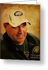 Rex Ryan - New York Jets Greeting Card by Lee Dos Santos