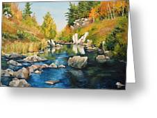 Rhinelander Fall Greeting Card