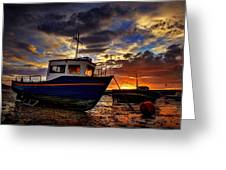 Rhos Sunrise Greeting Card