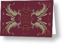 Ribbons To Claws Greeting Card