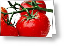 Rich Red Tomatoes Greeting Card