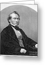 Richard Cobden (1804-1865). /nenglish Politician And Economist. Steel Engraving, English, 19th Century Greeting Card