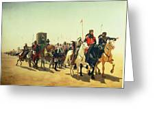 Richard Coeur De Lion On His Way To Jerusalem Greeting Card