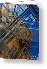 Richelieu Wing Of The Louvre Greeting Card