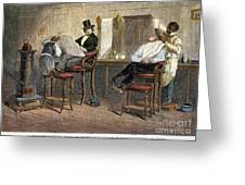 Richmond Barbershop, 1850s Greeting Card