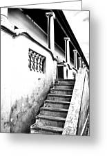 Richmond Stairs Bw Old Hostel Greeting Card