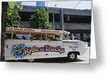 Ride The Ducks Greeting Card