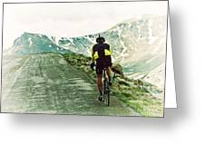 Ride The Rockies Greeting Card