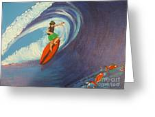 Ride The Waves Greeting Card