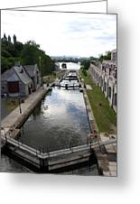Rideau Canal And Locks - Ottawa Greeting Card