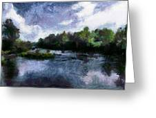 Rideau River View From A Bridge Greeting Card