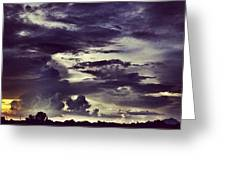 Riders Of The Storm #sky #clouds #drama Greeting Card