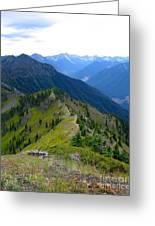 Ridgeline In British Columbia Greeting Card