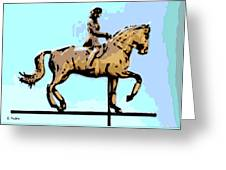 Riding Copper Greeting Card