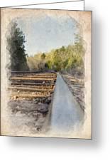Riding The Rail II Greeting Card