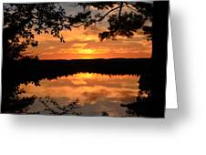 Rifle Rive State Park Sunset Greeting Card