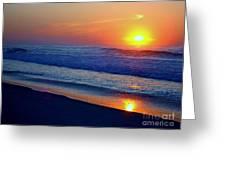 Right Hand Sun Greeting Card