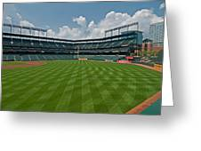 Right To Left At Oriole Park Greeting Card