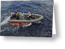 Rigid-hull Inflatable Boat Operators Greeting Card