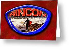 Rincon Logo Greeting Card by Ron Regalado