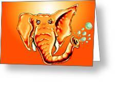 Ringo Party Animal Orange Greeting Card