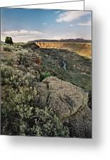 Rio Grande Gorge Above Taos Junction Bridge Greeting Card