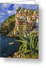 Rio Maggiore Cinque Terre Italy Greeting Card