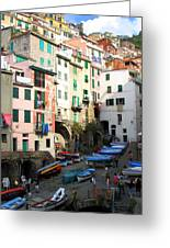 Riomaggiore's Harbor Greeting Card