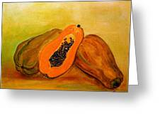 Ripe Papaya Greeting Card
