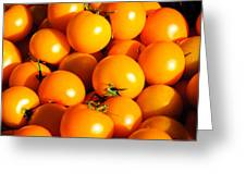 Ripe Yellow Tomatoes Greeting Card by Connie Cooper-Edwards