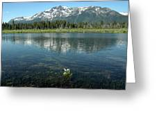Ripples On Lake Of Mt Tallac Greeting Card