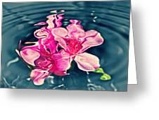 Rippling Flowers Greeting Card