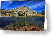 Ripply Waters Of Lake Cathrine Greeting Card