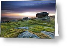 Rippon Tor II Greeting Card by Sebastian Wasek
