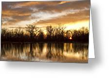 Rising Sun At Crane Hollow Greeting Card