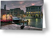 Riva Del Vin. Venezia Greeting Card