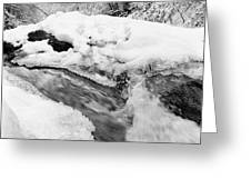 River And Snow II Greeting Card