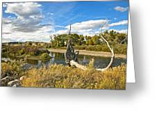 River At Hudson Wy. Greeting Card by James Steele