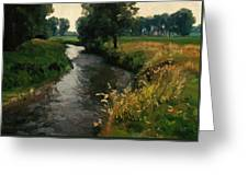 River Geul Greeting Card by Nop Briex