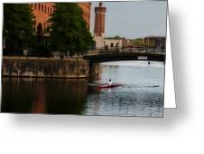 River Gliding Greeting Card