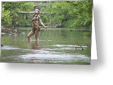 River Indian Greeting Card