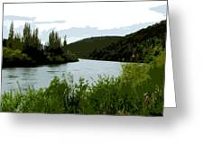 River Landscape Scene Greeting Card