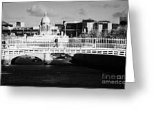 River Liffey Dublin City Center Greeting Card