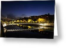 River Liffey, Millenium Footbridge At Greeting Card